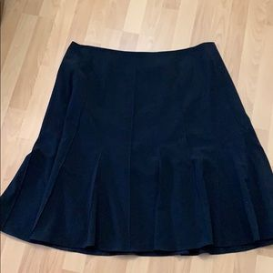 Black plus sized lined skirt